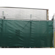 Mutual 14899 Polyethylene Privacy Screen Fence with Grommets, 150' Length x 170cm Width, Green