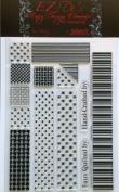 KellyCraft EZ-De's Rail Fence Polymer Stamp, 2.5cm , Set A