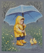 Janlynn Rainy Day Friends Counted Cross Stitch Kit