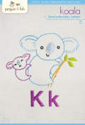 "Penguin & Fish ""Koala"" Hand Embroidery Pattern"