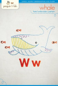 "Penguin & Fish ""Whale"" Hand Embroidery Pattern"