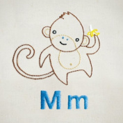"Penguin & Fish ""Monkey"" Hand Embroidery Pattern"
