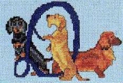 Pegasus Originals Dachshunds Alphabet Counted Cross Stitch Kit