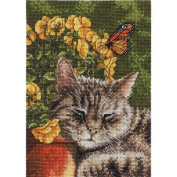Bucilla 45517 Counted Cross Stitch Heirloom Treasures Picture Kits, Afternoon Nap