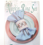 Cross stitch kits Napkin Ring Set Your Initials