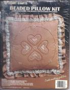 Beaded Pillow Kit Hearts Design