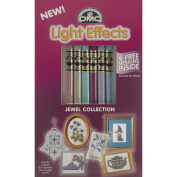 DMC 317WPK1 Light Effects Polyester Embroidery Floss, 8.7-Yard, Soft Jewels
