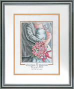 Dimensions Needlecrafts Counted Cross Stitch Kit, Embrace Wedding Record