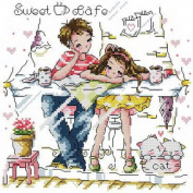 14 Counted Aida Kids Cross Stitch Love Couple Children Kit Kq062