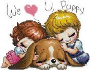 14 Counted Aida Kids Cross Stitch Love Baby Children Kit Kk061