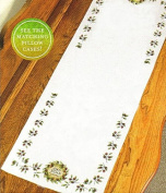 Debbie Mumm Ciao Bella Dresser Scarf Stamped Cross Stitch Kit