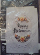 Happy Anniversary Stitch a Card - Ribbon Embroidery Kit #1003