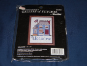 "1990 Bucilla Counted Cross Stitch ""Welcome"" Pattern Kit"