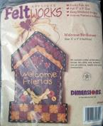 Dimensions Applique Feltworks Welcome Birdhouse Folk Art Craft Embroidery Kit