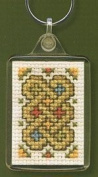Textile Heritage Keyring Counted Cross Stitch Kit - Celtic Knot