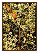 Counted Cross Stitch Chart Woodland Pheasant by Arts and Crafts Movement Founder William Morris