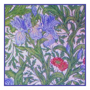 Counted Cross Stitch Chart Blue Iris by Arts and Crafts Movement Founder William Morris