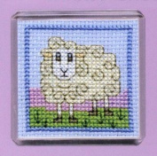 Textile Heritage Magnet Cross Stitch Kit - Wee Woolly Sheep