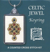 Textile Heritage Keyring Counted Cross Stitch Kit - Celtic Jewel