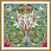Counted Cross Stitch Chart Snakeshead by Arts and Crafts Movement Founder William Morris
