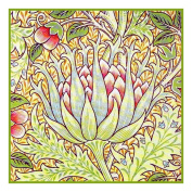 Counted Cross Stitch Chart Artichoke by Arts and Crafts Movement Founder William Morris