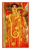 Art Nouveau Artist Gustav Klimt's Hygeia Counted Cross Stitch Chart/Graph