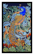 Counted Cross Stitch Chart Peacock by Arts and Crafts Movement Founder William Morris