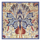 Counted Cross Stitch Chart Blue Thistle by Arts and Crafts Movement Founder William Morris