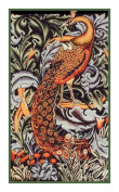 Counted Cross Stitch Chart Woodland Peacock by Arts and Crafts Movement Founder William Morris
