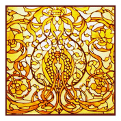 Art Nouveau Screen inspired by the work of Art Nouveau and Stained Glass Artist Louis Comfort Tiffany Counted Cross Stitch Chart from Watercolour