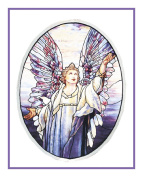 Angel of Peace inspired by the work of Art Nouveau and Stained Glass Artist Louis Comfort Tiffany Counted Cross Stitch Chart from Watercolour