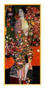 Art Nouveau Artist Gustav Klimt's The Dancer Counted Cross Stitch Chart/Graph
