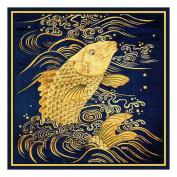 Golden Carp Asian Folk Art Counted Cross Stitch Chart