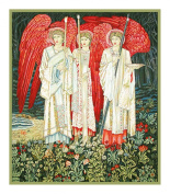 Holy Grail Angels Detail by Arts and Crafts Movement Founder William Morris Counted Cross Stitch Chart