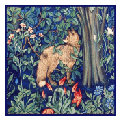 Forest Fox by Arts and Crafts Henry Dearle and William Morris Counted Cross Stitch Chart