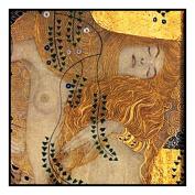 Art Nouveau Artist Gustav Klimt's Water Serpent Detail Counted Cross Stitch Chart/Graph