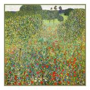 Art Nouveau Artist Gustav Klimt's The Poppy Meadow Counted Cross Stitch Chart/Graph