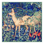 Forest Deer by Arts and Crafts Henry Dearle and William Morris Counted Cross Stitch Chart