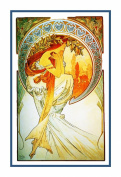 The Arts Poetry by Alphonse Mucha Counted Cross Stitch Chart