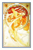 The Arts Dance by Alphonse Mucha Counted Cross Stitch Chart