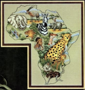 Pegasus Originals Continents Africa Counted Cross Stitch Leaflet