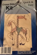 Grey Horse Carousel - Hanging Ornament - Counted Cross Stitch Kit P06112
