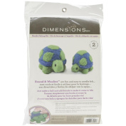 Dimensions Needlecrafts Round and Woolly Turtles Needle Felting Kit
