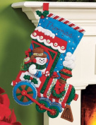 Bucilla Felt Applique Christmas Stocking Kit