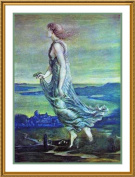 Hesperus and the Evening Star by Arts and Crafts Edward Burne-Jones Counted Cross Stitch Chart