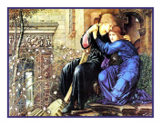 Love Among the Ruins by Arts and Crafts Edward Burne-Jones Counted Cross Stitch Chart