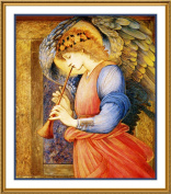 The Angel with a Flagelot by Arts and Crafts Edward Burne-Jones Counted Cross Stitch Chart