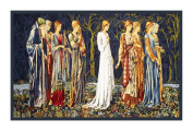 The Ceremony by Arts and Crafts Edward Burne-Jones and William Morris Counted Cross Stitch Chart