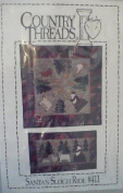 Santa's Sleigh Ride - Applique Quilt Patterns & Instructions #411