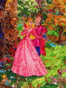MCG Textiles 52559 Vignette Sleeping Beauty Cross Stitch Disney Dreams Collection Kit by Thomas Kinkade